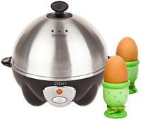 Zilan Elektrischer Eierkocher | Eier Kocher | Egg Cooker | 1-7 Eier | Eier 360 Watt | Edelstahlheizplatte | Automatische Abschaltung | Kontrollleuchte | …
