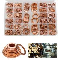 400x Dichtring Sortiment Set Kupfer Dichtungen Öl Kupferringe Kupferscheiben-Gold