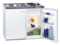 Pantryküche Basic, Küchenzeile, Singleküche, 900 x 1000 x 600 mm, Weiß 731270
