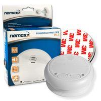 1x Nemaxx WL2 Funkrauchmelder Rauchmelder Brandmelder Set Funk koppelbar vernetzt - nach EN 14604 + 1x Nemaxx  Magnetbefestigung