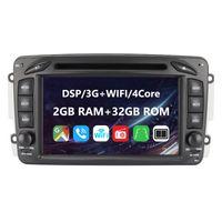 Eunavi 2 Din Android 10 Auto DVD Für Mercedes Benz CLK W203 W208 W209 W210 W463 Vito Viano 7 Zoll Bildschirm Autoradio GPS Navigation DSP