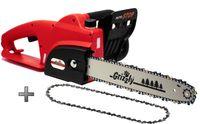 Grizzly Tools Elektro Kettensäge, elektrische kettensäge mit Metallgetriebe1800 W, 35,5 cm Schnittlänge, Chromekette, autom. Kettenschmierung, Kabelzugentlastung, inkl. Ersatzkette