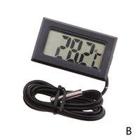 Schwarz (B) $ Fabrik direkter digitaler elektronischer digitale Thermometer Aquarienwasser Tisch Kühlschrank Thermometer wasserdicht Sonde