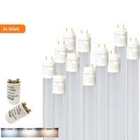 2x 120cm LED Röhre G13 T8 Leuchtstofföhre Tube / 18W Warmweiß (3000K) 1750 Lumen 270° Abstrahlwinkel / inkl. Starter 2er Pack/ milchweiße Abdeckung