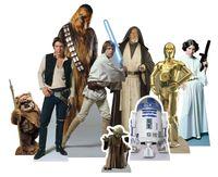 Star Wars - Heroes - Table Tops - Pappaufsteller - 9 kleine Tischaufsteller
