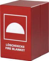 JUTEC Feuerlöschdeckenbehälter 300x200x300mm a.Stahl rot