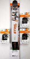 """Stihl Original 30030007713 Light 04 Führungsschiene Schwert 40Cm 1,6// 3/8""""//3 X Stihl Original Kette Vollmeisselkette"""