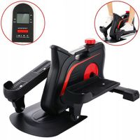 Mini Heimtrainer, Mini Stepper Crosstrainer,Mini Bike Bewegungstrainer Pedaltrainer Arm- und Beintrainer platzsparendes Trainingsgerät mit Anti-Rutschmatte und Trainingscomputer,Schwarz