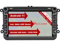 """M.I.C. AV8V7-lite Android 11 Autoradio mit navi Ersatz für VW Golf t5 touran Passat RNS RCD Skoda SEAT: DAB Plus Bluetooth 5.0 WiFi 2 din 8"""" IPS Bildschirm 2G+32G USB Auto zubehör europakarte"""