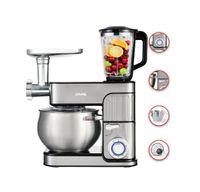 3 in1 Edelstahl Küchenmaschine StandMixer Ice Crusher Fleischwolf 8,5L 2350W DMS® KMFB-2350