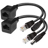 Passive Power over Ethernet PoE Injector + Adapter Splitter