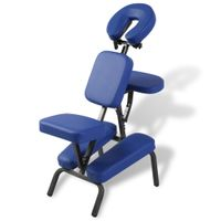Möbel® Faltbarer & Tragbarer Massagestuhl,Kosmetikstuhl Tragbar,Gesichtsbehandlungsstuhl,Relaxsessel Komfortabel  Blau🌈1134