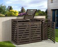 Holz Mülltonnenbox Weka anthrazit für 3 Mülltonnen