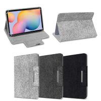 Filz Hülle für Samsung Galaxy Tab A7 10,4 Tablet Tasche Schutzhülle Case Cover, Farbe:Hell Grau