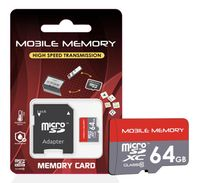 microSD Speicherkarte für Smartphone, Kamera, z.B. Samsung Galaxy Xiaomi micro SD Karte, Speicherkapazität: 64GB