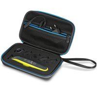 Wicked Chili Tasche für Philips OneBlade Rasierer, Aufsätze und Ersatzklingen, One Blade Tasche Trimmer Reisetasche Schutzhülle Case Etui (Zubehörfach für Netzteil, QP2520, QP2530, QP2531) schwarz
