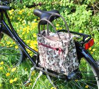 Pilgrim Fahrradtaschen Gepäckträgertasche Henkeltasche Bowlingtasche Packtaschen, Herstellernummer:BLO44-170, Farbe:Beige, Ausführung:1x Hecktasche Pilgrim L