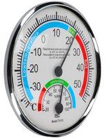 Thermo-Hygrometer Temperatur und Luftfeuchtigkeit Anzeige zur Raumklimakontrolle in Weiss
