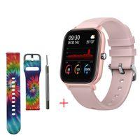 2020 Smart Watch Männer Frauen IP67 Wasserdichter Fitness Tracker Sport-Herzfrequenzmonitor Full Touch Smartwatch für Amazfit Gts Xiaomi, Pink