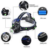 T6 6000Lm Wasserdicht LED Scheinwerfer Stirnlampe Lampen LED Kopflampe mit Akku