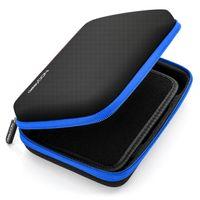 deleyCON Navi Tasche Navi Case Tasche für Navigationsgeräte - 6 Zoll & 6,2 Zoll (17x12x4,5cm) - Robust & Stoßsicher - 1 Innenfach - Schwarz Blau