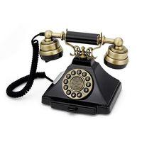 GPO Retro Duke, Analoges Telefon, Kabelgebundenes Mobilteil, Schwarz