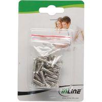 50er Pack InLine® Lüfterschraube, 5x16mm, silbern