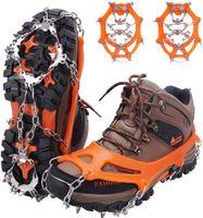 Schuhkrallen f/ür Winter Walking Wandern Bergsteigen Steigeisen f/ür Bergschuhe mit 13 Spikes Profi Anti-Rutsch Schuhkrallen f/ür Schnee /& EIS