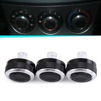 Klima Heizungsregler Schalter Alu Ringe Passend Für Mazda 2 3 6 M3 Schwarz