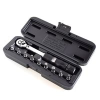 """1/4""""DR 2-14Nm bike torque wrench set Bicycle repair tools kit ratchet mechanical torque spanner preset torque wrench"""