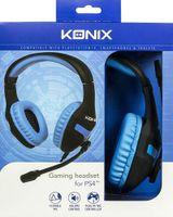 Konix 61881187303, Gaming, Kopfhörer, Kopfband, Schwarz, Blau, Binaural, Verkabelt