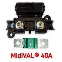 SET MTA Sicherungshalter 0100360 inkl. MidiVAL Sicherung 40A