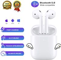 Bluetooth-Ohrhörer 5.0 Bluetooth-Headset mit drahtlosen Ohrhörern mit zwei Mikrofongeräuschen, HiFi-Stereoanlage und 30 Stunden Wiedergabezeit, reine drahtlose Kopfhörer mit wasserdichter IPX5-Funktion, geeignet für Airpods / Samsung / iPhone // Huawei