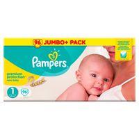 Pampers Premium Protection New Baby Gr.1 Newborn 2-5kg HalbmonatsBox, 96 Stück - Größe 1 - 96 Stück