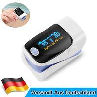 Pulsoximeter Finger Oximeter - SpO2 Pulsmesser – Fingerpulsoximeter - Messung von Puls und Sauerstoffsättigung am Finger – LED Display - Batterieanzeige – Alarm – One Touch Bedienung