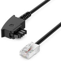deleyCON 10m Routerkabel TAE-F auf RJ45 (8P2C) Anschlusskabel Kompatibel mit DSL ADSL VDSL Fritzbox Internet Router