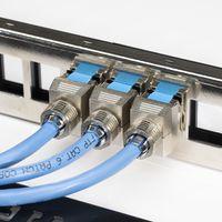 kwmobile 12x Keystone Modul für CAT 8 Kabel - 40 Gbit/s geschirmt Metall Gehäuse Schnappverschluss - werkzeugfreier Anschluss an Modular Patchpanel