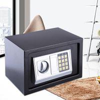 6.4L Elektronischer Safe Tresor Wandtresor Digital Feuerfest Möbeltresor Zahlencode + Schlüssel