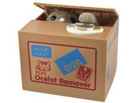 Elektronische Katzen Spardose Katze Sammelt Geldmünzen Batteriebetrieben 3051