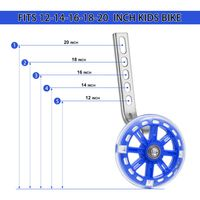 LED Stützräder Sicherheitsstützräder für 12 14 16 18 20 Zoll Kinderfahrrad Rosa