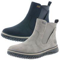 Rieker Damen Chelsea Boots Warmfutter Stiefeletten Z4294, Größe:39 EU, Farbe:Blau