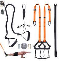 Sling Trainer Schlingentrainer bis 300 kg Fußschlaufen Übungsanleitung Längenverstellbar Fitness Zuhause Suspension
