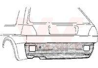 VAN WEZEL Heckwand für VW GOLF II (19E 1G1)