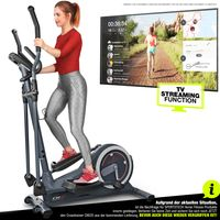 SPORTSTECH Crosstrainer für zuhause | Deutsches Qualitätsunternehmen | Video Events & Multiplayer APP & Display | 24KG Schwungmasse | 22Programme & HRC Mode | Fitness Heimtrainer CX625 inkl. Tablethalterung