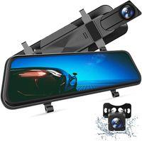 """VanTop H610 Spiegel Dashcam Auto vorne hinten, 2,5K Autokamera mit 10"""" Touchscreen, Nachtsicht mit Sony STARVIS Sensor, 1080P Rückfahrkamera, Loop-Aufnahme, G-Sensor, Parkmonitor, Parkhilfe, HDR, WDR"""