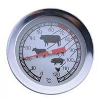 120 °C Grad Räucher Thermometer Analog Räucherthermometer Räucherofen Grill BBQ