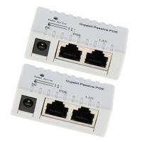 2 Pieces Passive PoE Injector Power Over Ethernet Für IP VoIP Kameras