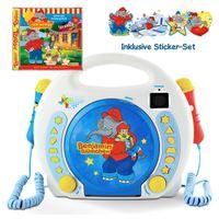 X4-TECH Bobby Joey Kinder CD-Player/CD-Spieler/Kinder-Player Benjamin Blümchen inkl. CD – Karaokefunktion