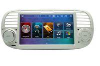 """7"""" Touchscreen Android Autoradio USB Navigation für Fiat 500 (Beige)"""