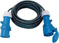 Brennenstuhl CEE-Verlängerungskabel 10m H07RN-F 3G1,5 (CEE-Kabel mit CEE-Stecker und Kupplung mit Verschlussklappe,  für ständigen Einsatz im Außenbereich IP44)